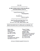 Leader v. Facebook - Facebook RESPONSE Red Brief, Oct. 24, 2011, Fed. Cir. Case No. 2011-1366.