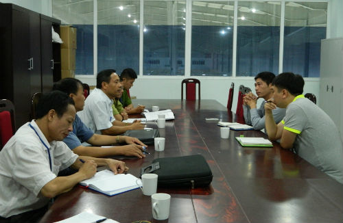 Kiểm tra vệ sinh ATTP tại Công ty may Vietpan Pacific