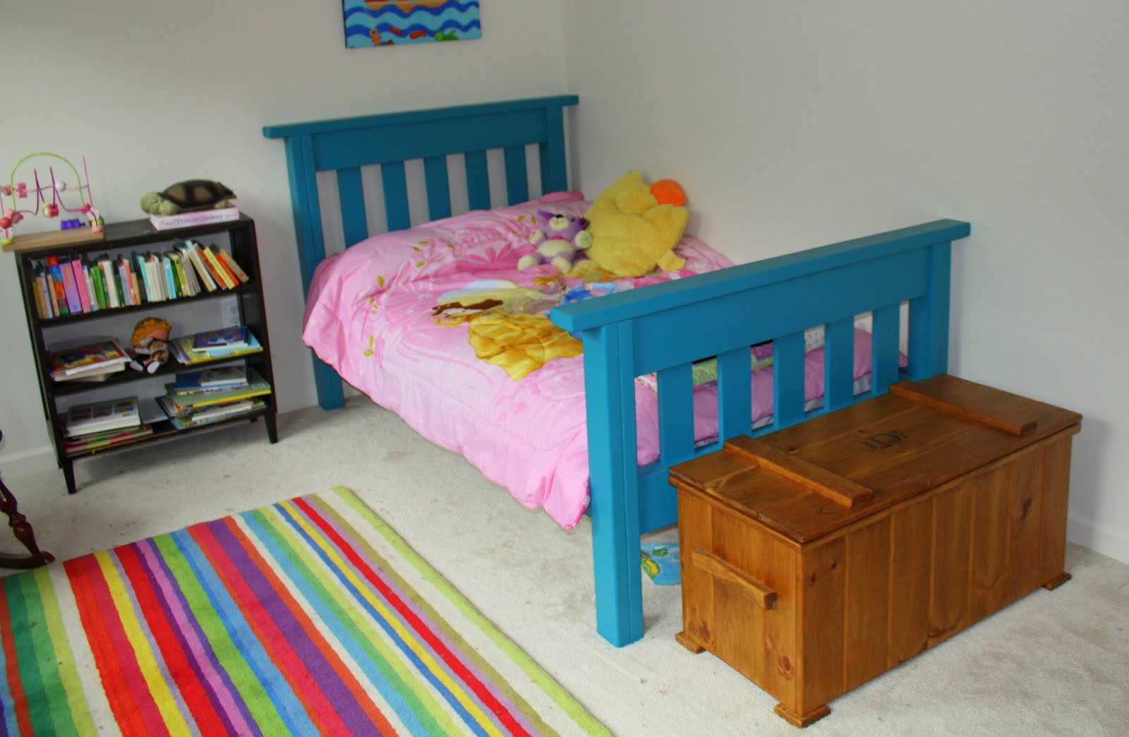 Kids twin bed frame - Twin Bed Frames And Head Boards Are Stupidly Expensive And Or Pieces Of Crap I Wanted A Bed My Kids Could Jump And Play In Without Spending 750 At Pottery