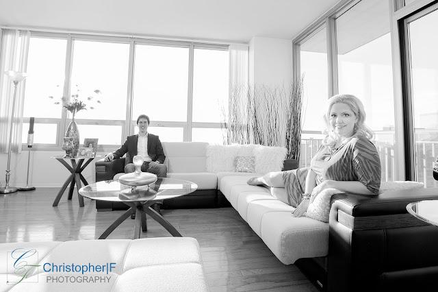 Chicago Condo Engagement Photo Indoors