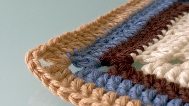 Cuadrado de crochet