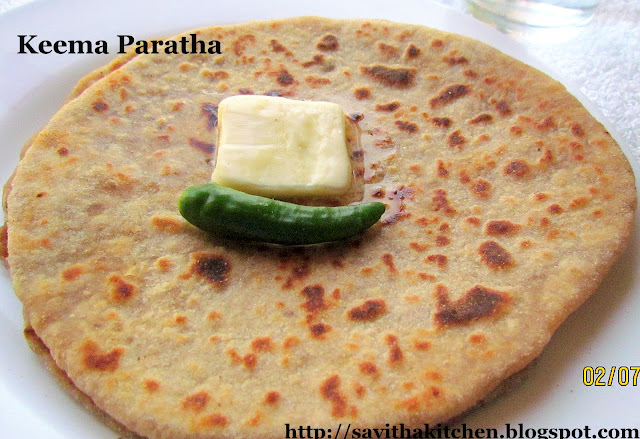 keema paratha