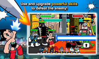 Screenshots of the Astro boy: siege Alien attack for Android tablet, phone.