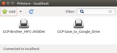 Ubuntu Printer Settings Dialog Box
