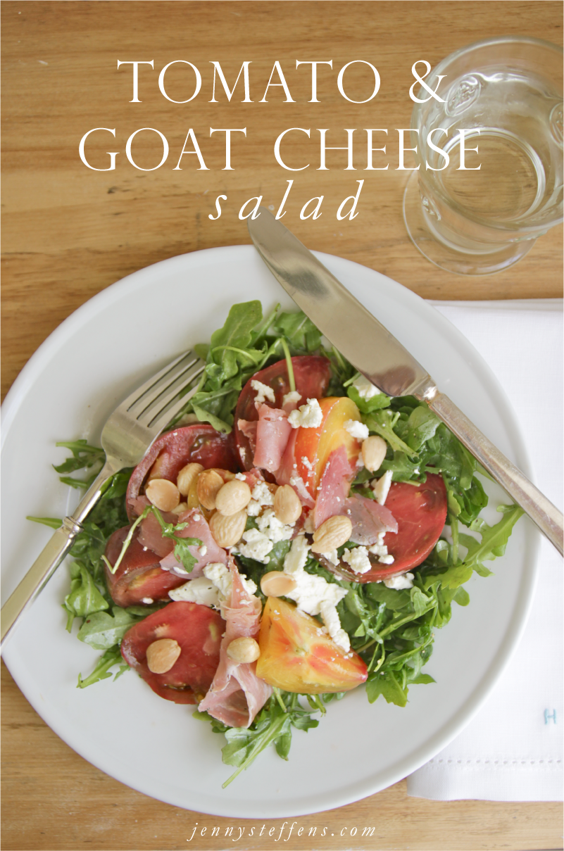 Heirloom Tomato, Marcona Almonds, Prosciutto & Goat Cheese Salad with ...