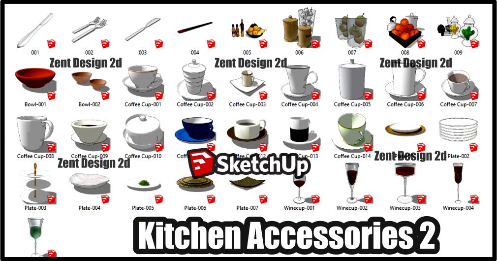 KITCHEN ACCESSORIES 2 ~ ZENT DESIGN 2D