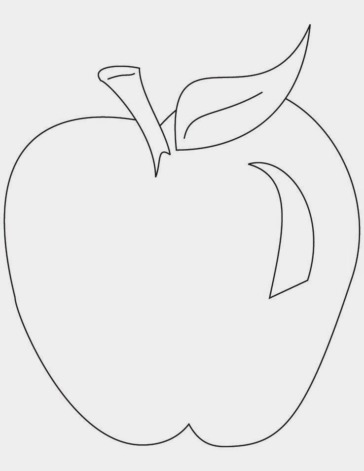 Gratis gambar mewarnai buah apel untuk anak