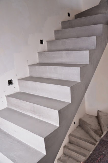 beton cire oberfl chen in beton look betontreppe. Black Bedroom Furniture Sets. Home Design Ideas
