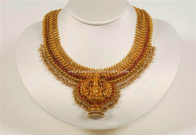Lakshmi Gold bridal Necklace