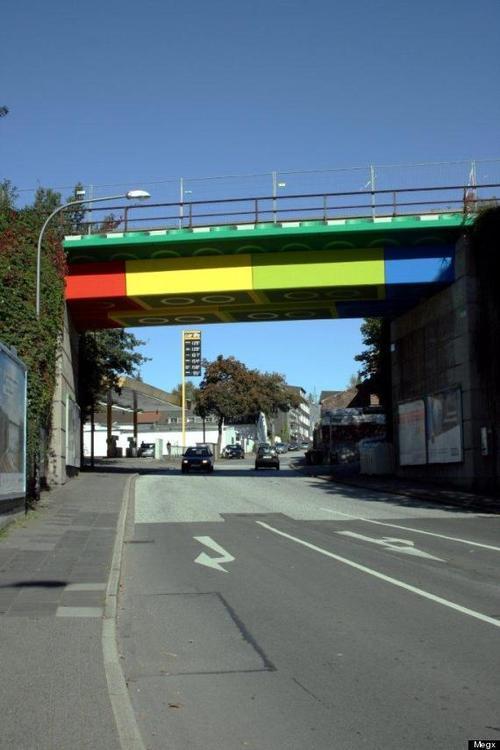 World Facts: Real Life Giant LEGO Bridge