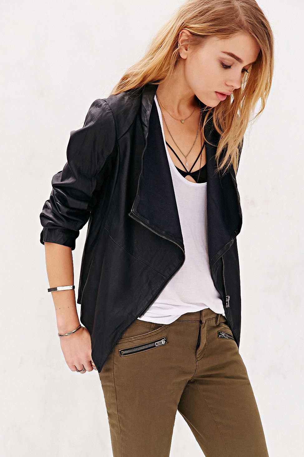 Leather jacket urban outfitters - Fall Transition Jackets