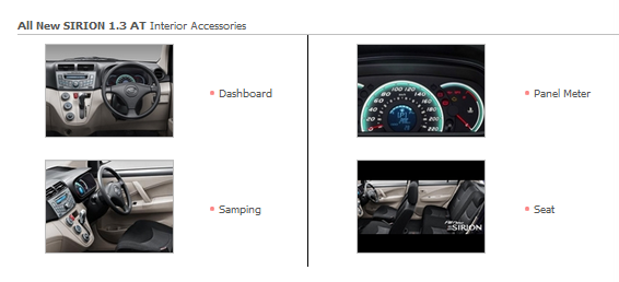 Accessories Interior All New SIRION 1.3 AT