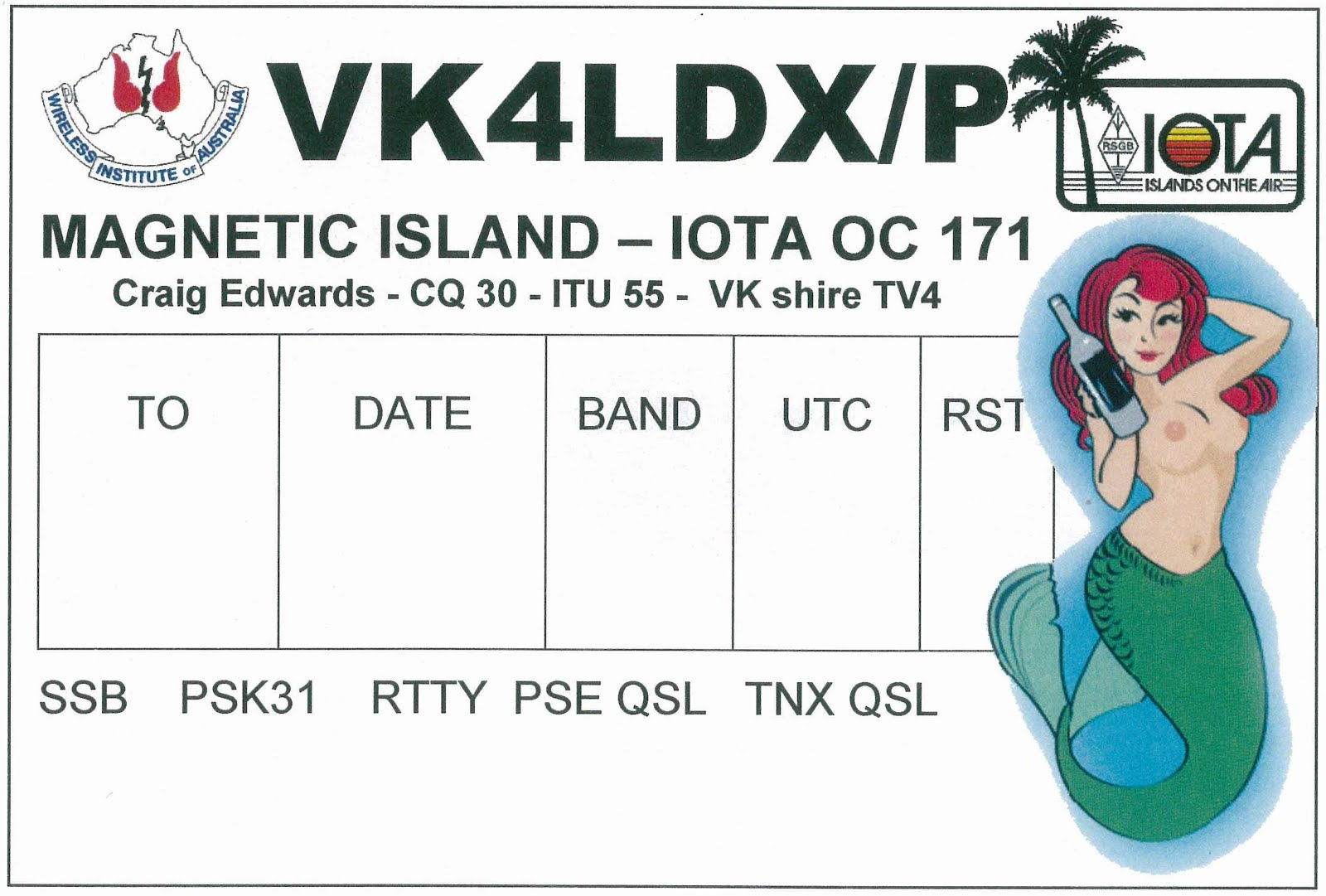 VK4LDX/P OC-171 2010 and 2011