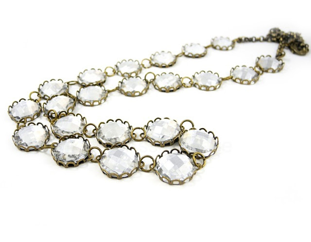 J.Crew Inspired Crystal Necklace