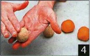 Mandarine et pêche