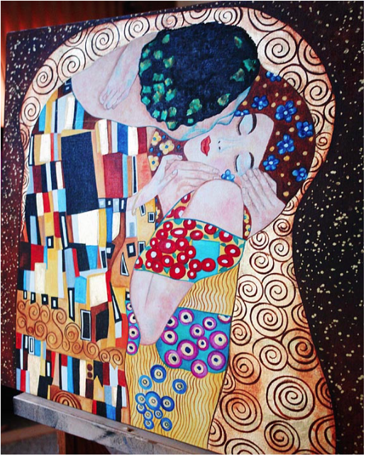 His Kiss Inspired by Klimt