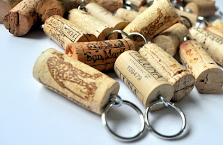 wine cork projects keychain