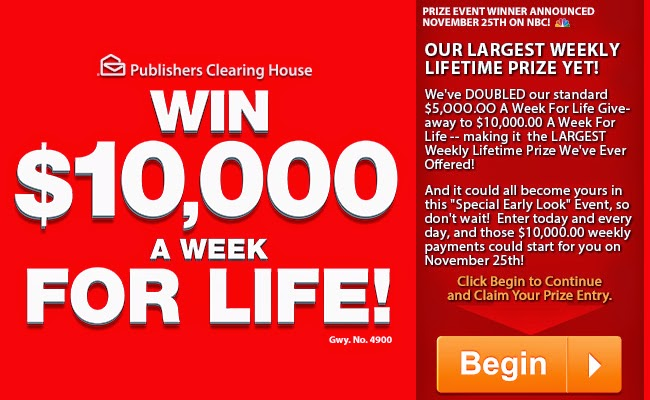 650 x 400 jpeg 77kB, ... 10,000 a Week for Life Sweepstakes SuperPrize ...