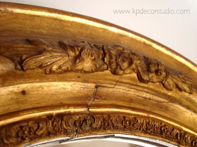 Venta de espejos antiguos en valencia. Espejos dorados estilo isabelinos