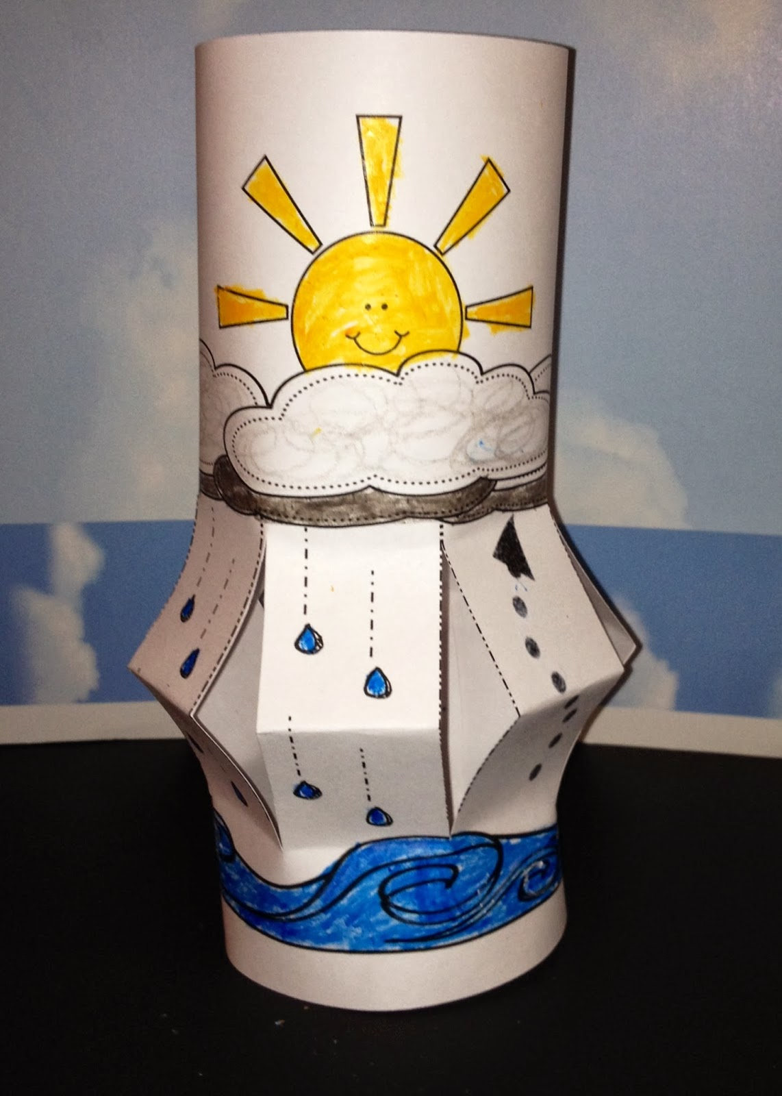 water cycle lantern