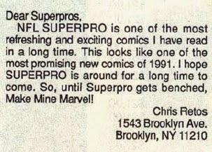 NFL Superpro 7 Letter