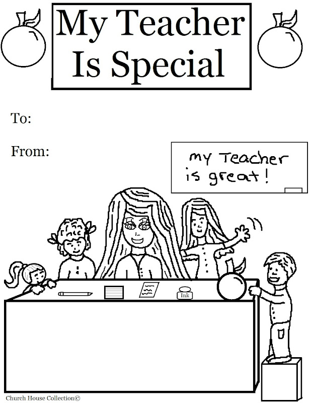 My Teacher Is Special Coloring Pages title=