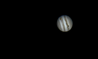 Jupiter Ganymede Shadow Transit and the Great Red Spot