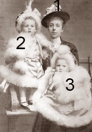 Marie de Danemark et deux de ses fils