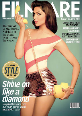 Deepika Padukone on Filmfare January 2013