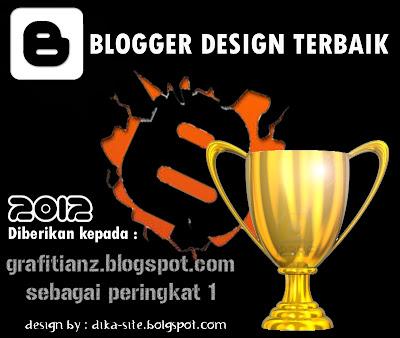 Award Blogger Design Terbaik Dari Catatan Anak SMA