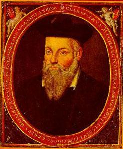 Retrato de Nostradamus por su hijo Cesar