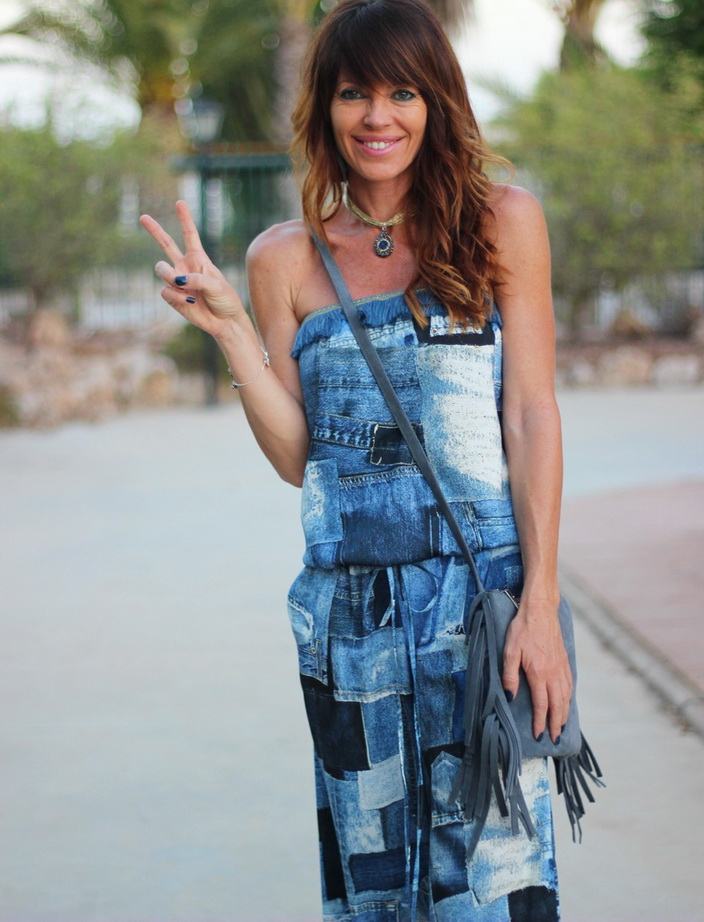 Jumpsuit denim - Denny Rose - Streetstyle - flecos - mono denim - fashion blogger - blogger alicante