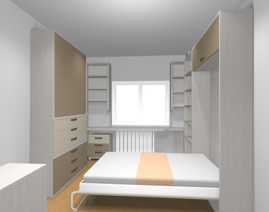 Dormitorios juveniles abatibles for Cama abierta