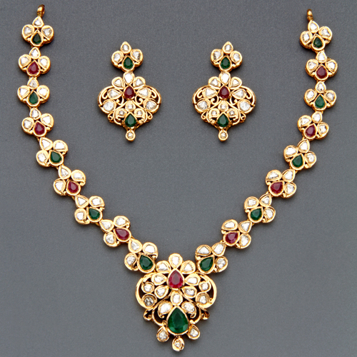 Indian Jewellery And Clothing Polki Necklace Sets From: Indian Jewellery And Clothing: Polki Necklace Sets From