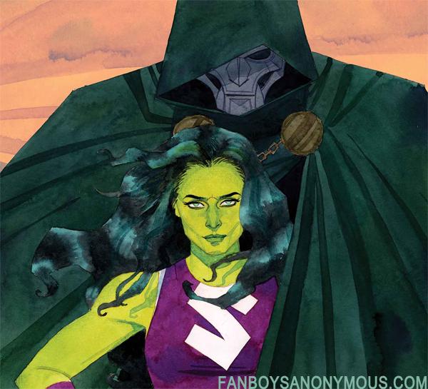 She-Hulk Cover Doctor Doom Marvel Comic