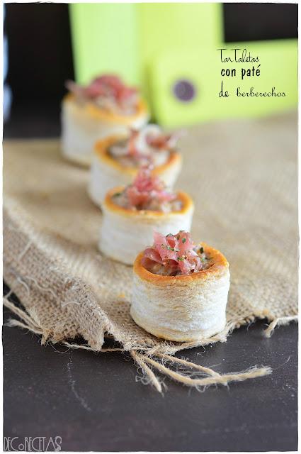 Tartaletas con paté de berberechos