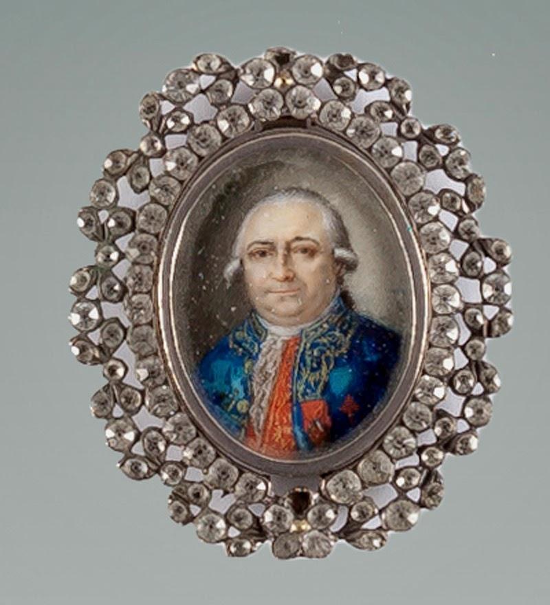 Orden de Santiago: Miniatura de busto de caballero (S.XVIII)