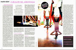 Pilates Aéreo , AeroYoga®: yoga aéreo en prensa Marie Claire México latino América