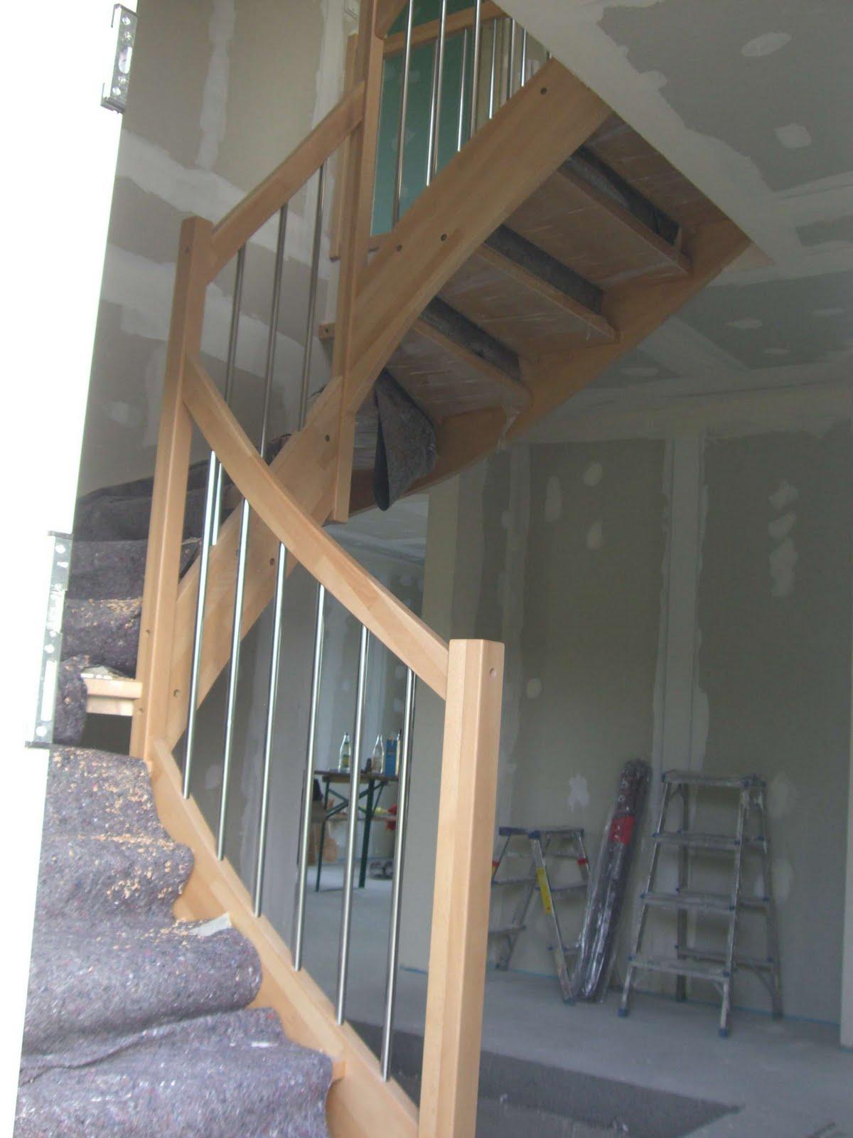 christian susi bauen ein haus mit danwood die treppe mit und ohne gel nder. Black Bedroom Furniture Sets. Home Design Ideas