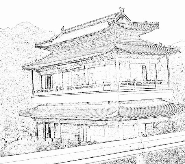chinese architectural style building in  Beijing