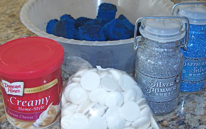 Becky Bakes and cooks too Blue Velvet Cake Pops