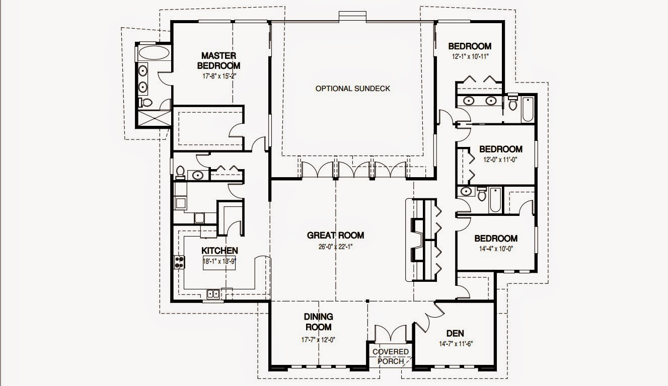 plano de casa grande 1 piso y 4 cuartos