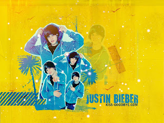 Justin bieber in yellow wallpapers 2011