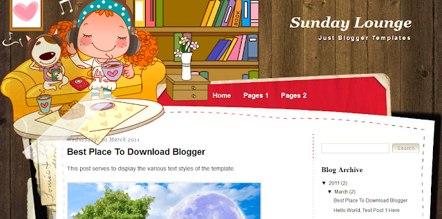 Girly Blogger Template