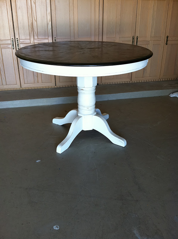 Prudently Painted Vintage Pedestal Table Makeover