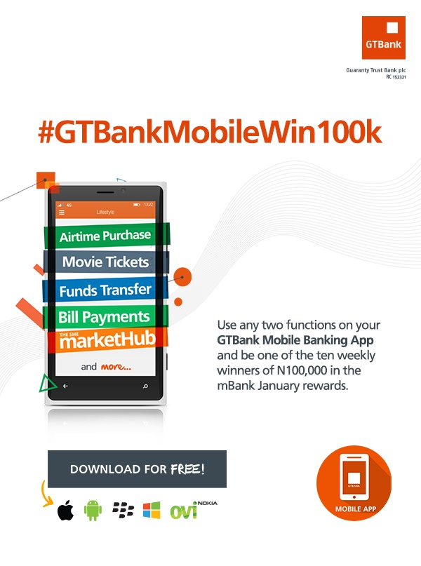 GTBank to reward mobile banking customers with 100k   Flatimes