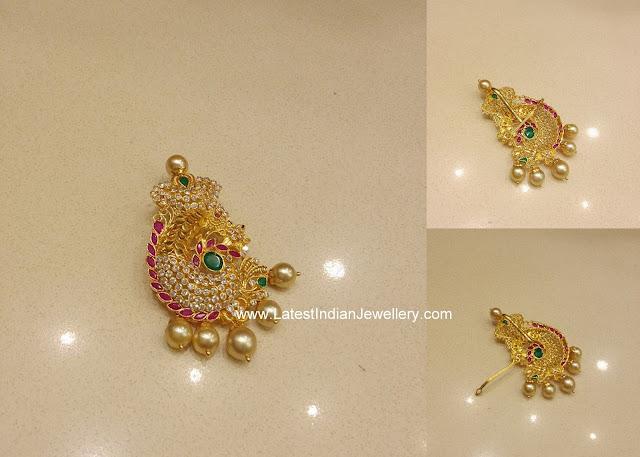 latest indian gold pendant