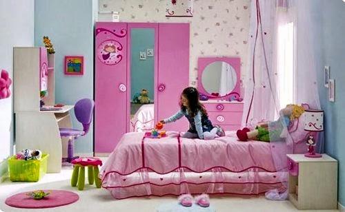 Gambar Desain Kamar Anak Perempuan yang Cantik