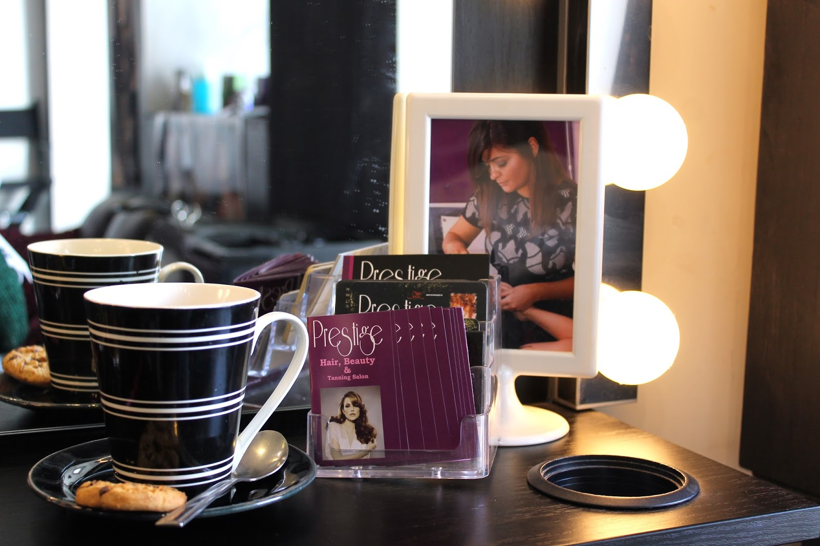 Make up area in Prestige Salon Galway