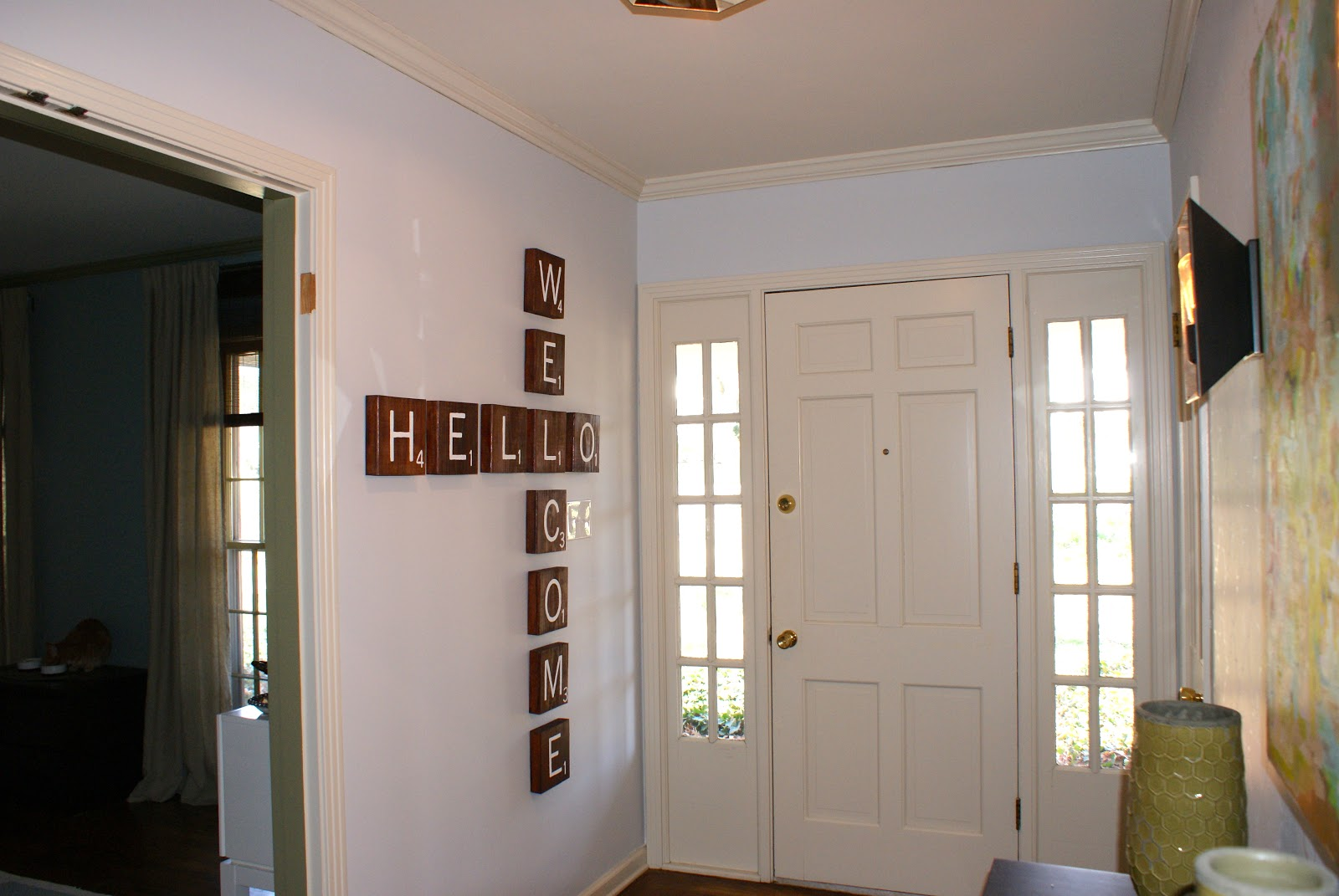 some like a project scrabble tile wall art. Black Bedroom Furniture Sets. Home Design Ideas